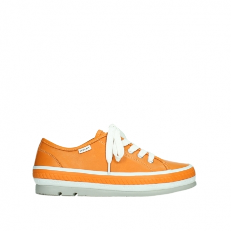 wolky lace up shoes 01230 linda 30550 orange leather