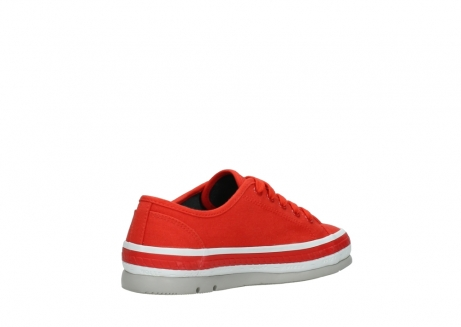 wolky lace up shoes 01230 linda 96500 red canvas_10