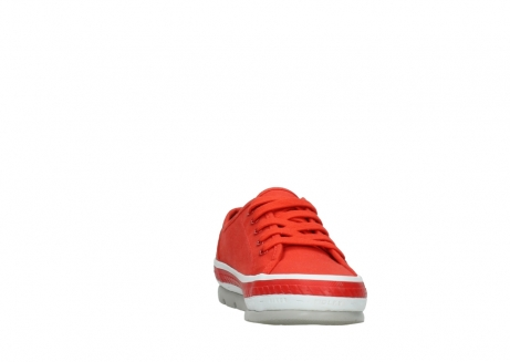 wolky lace up shoes 01230 linda 96500 red canvas_18