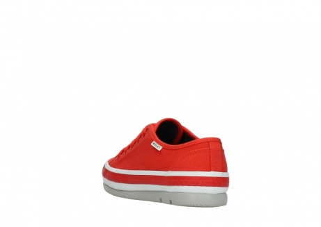 wolky lace up shoes 01230 linda 96500 red canvas_5