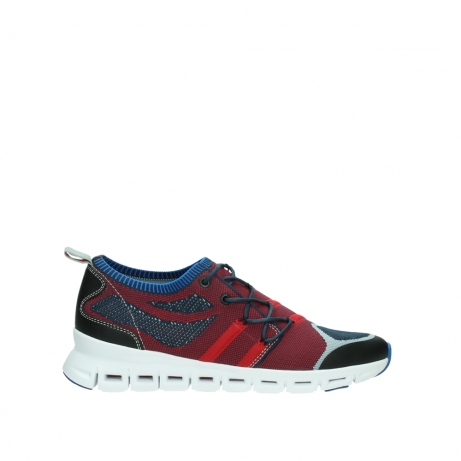 wolky lace up shoes 02054 nero 90580 red blue