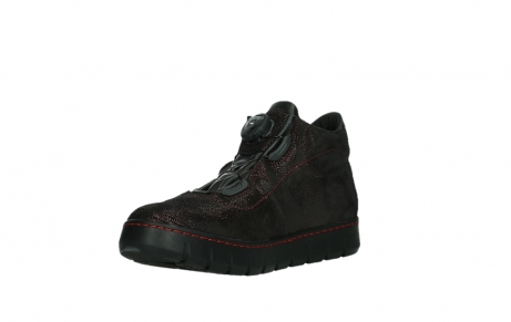 wolky lace up shoes 02326 rap 43510 bordo metal suede_10