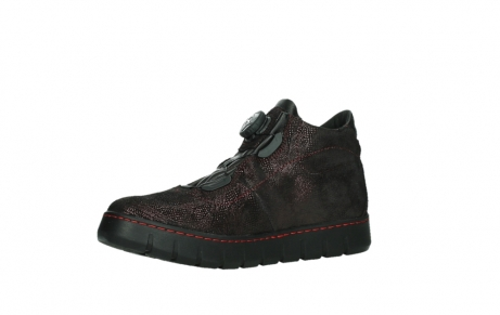 wolky lace up shoes 02326 rap 43510 bordo metal suede_11