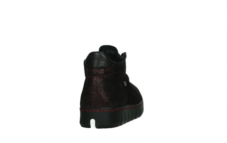 wolky lace up shoes 02326 rap 43510 bordo metal suede_20