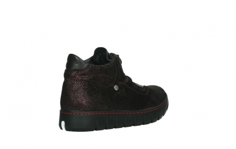 wolky lace up shoes 02326 rap 43510 bordo metal suede_22
