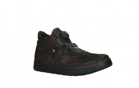 wolky lace up shoes 02326 rap 43510 bordo metal suede_3