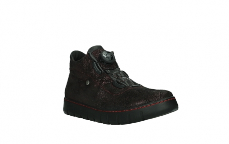 wolky lace up shoes 02326 rap 43510 bordo metal suede_4