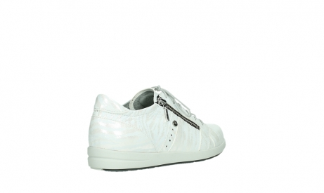 wolky lace up shoes 02429 friction xw 83123 off white silver zebra metallic leather_22