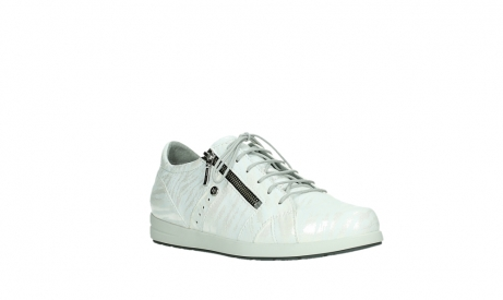 wolky lace up shoes 02429 friction xw 83123 off white silver zebra metallic leather_4