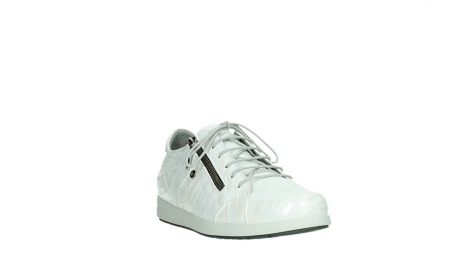 wolky lace up shoes 02429 friction xw 83123 off white silver zebra metallic leather_5