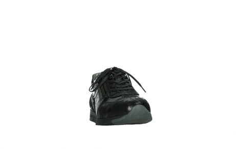 wolky lace up shoes 02525 yell 36000 shiny black leather_6
