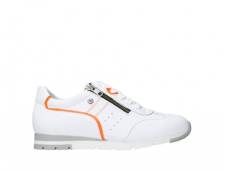 wolky lace up shoes 02526 yell xw 20105 white orange leather_1