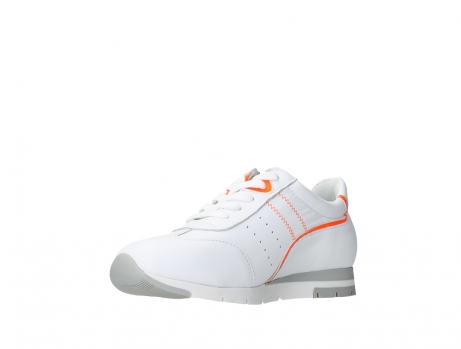 wolky lace up shoes 02526 yell xw 20105 white orange leather_10