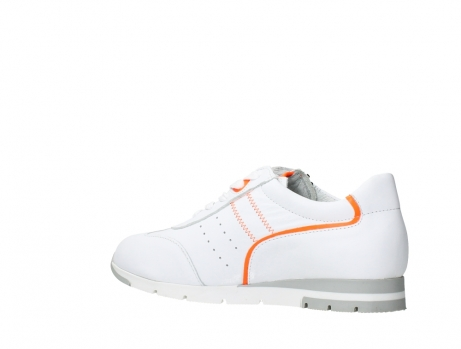 wolky lace up shoes 02526 yell xw 20105 white orange leather_15