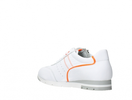 wolky lace up shoes 02526 yell xw 20105 white orange leather_16