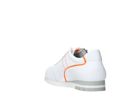 wolky lace up shoes 02526 yell xw 20105 white orange leather_17