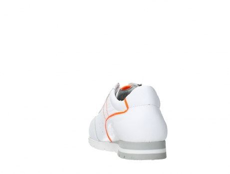 wolky lace up shoes 02526 yell xw 20105 white orange leather_18