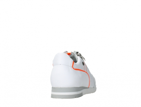 wolky lace up shoes 02526 yell xw 20105 white orange leather_20
