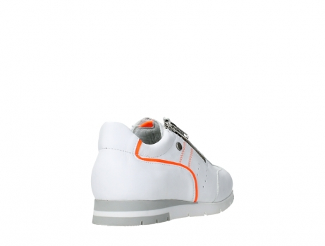 wolky lace up shoes 02526 yell xw 20105 white orange leather_21