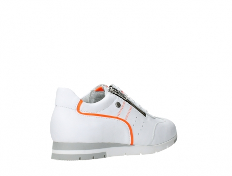 wolky lace up shoes 02526 yell xw 20105 white orange leather_22