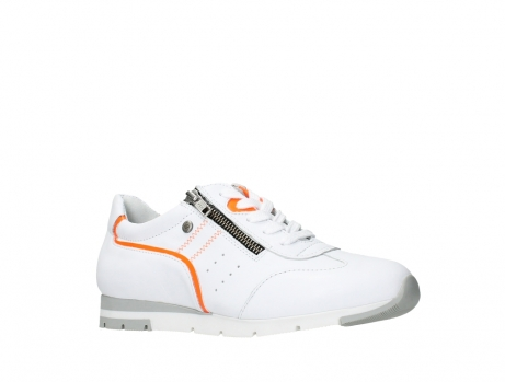 wolky lace up shoes 02526 yell xw 20105 white orange leather_3