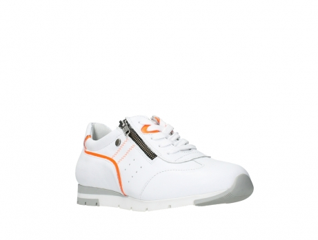 wolky lace up shoes 02526 yell xw 20105 white orange leather_4