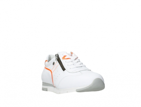 wolky lace up shoes 02526 yell xw 20105 white orange leather_5