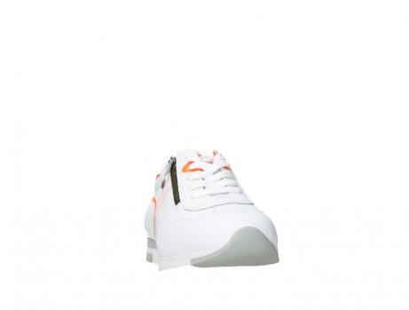wolky lace up shoes 02526 yell xw 20105 white orange leather_6