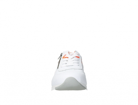 wolky lace up shoes 02526 yell xw 20105 white orange leather_7