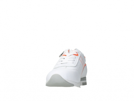 wolky lace up shoes 02526 yell xw 20105 white orange leather_8