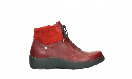 wolky lace up boots 03252 daydream 24505 dark red leather_1