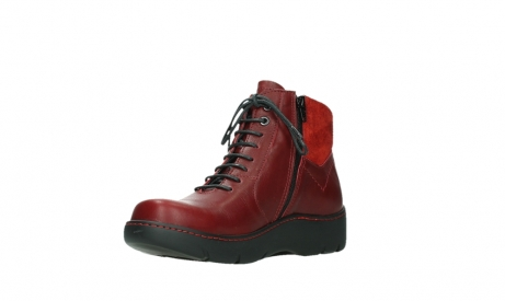 wolky lace up boots 03252 daydream 24505 dark red leather_10