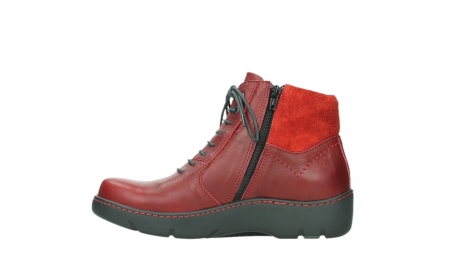 wolky lace up boots 03252 daydream 24505 dark red leather_13
