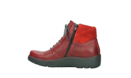wolky lace up boots 03252 daydream 24505 dark red leather_14