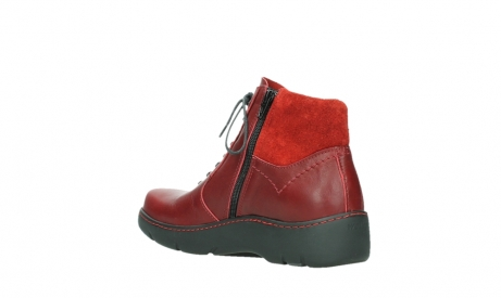 wolky lace up boots 03252 daydream 24505 dark red leather_16