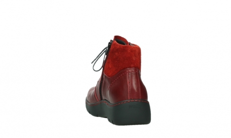 wolky lace up boots 03252 daydream 24505 dark red leather_18