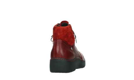 wolky lace up boots 03252 daydream 24505 dark red leather_20