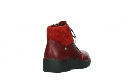 wolky lace up boots 03252 daydream 24505 dark red leather_21