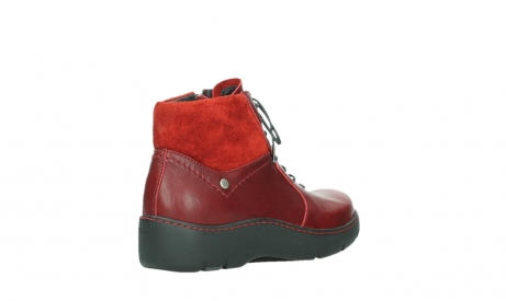 wolky lace up boots 03252 daydream 24505 dark red leather_22