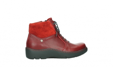 wolky lace up boots 03252 daydream 24505 dark red leather_24