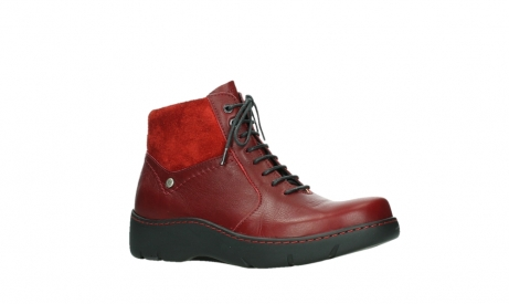 wolky lace up boots 03252 daydream 24505 dark red leather_3