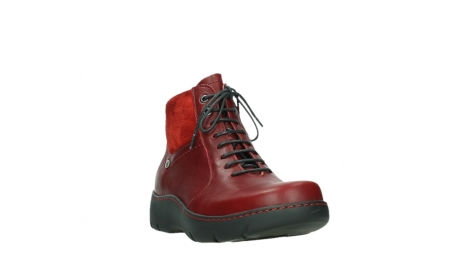 wolky lace up boots 03252 daydream 24505 dark red leather_5