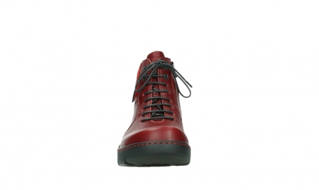 wolky lace up boots 03252 daydream 24505 dark red leather_7