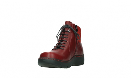 wolky lace up boots 03252 daydream 24505 dark red leather_9