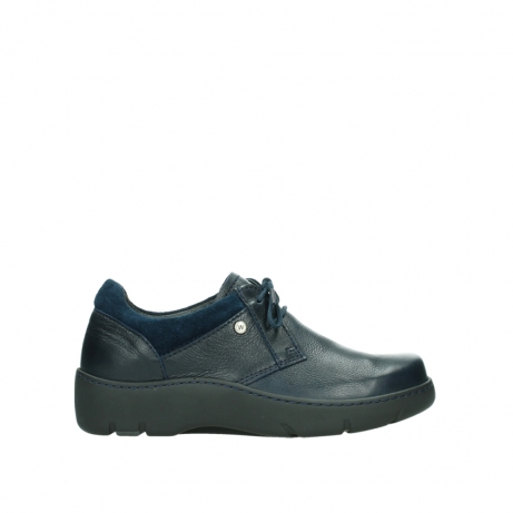 wolky lace up shoes 03253 calypso 24800 blue leather