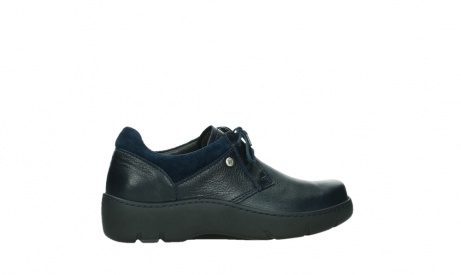wolky lace up shoes 03253 calypso 24800 blue leather_24