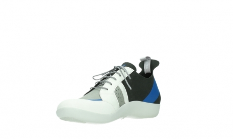 wolky lace up shoes 04075 base 00286 anthracite royal blue microfiber_10