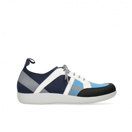 wolky lace up shoes 04075 base 00821 denim white microfiber