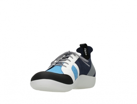 wolky lace up shoes 04075 base 00821 denim white microfiber_9