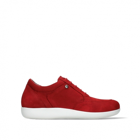 wolky lace up shoes 04076 basis 10570 red nubuck